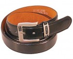 Extra Long Black Leather Belt BTX103K