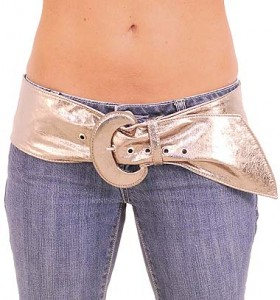 Gun Metal Metallic Soft and Wide Leather Belt BT598GMS