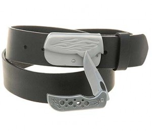 Magnetic Lock Knife Belt Buckle BU223KN