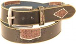 Patched Up Vintage Pauper Leather Belt BT4514P