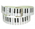 Piano Keys Leather Belt BT770PIANO
