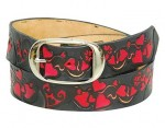 Red Hearts Premium Cowhide Leather Belt BTL180HRT