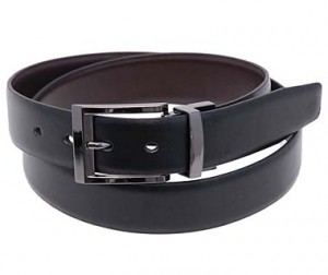 Reversible Black and Brown Leather Belt BT201KN
