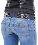 Skull and Chain Leather Belt BT1079SKC