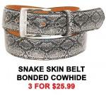 Snake Skin Leather Belt BT051SNW