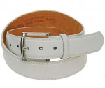 White Leather Belt BT027W