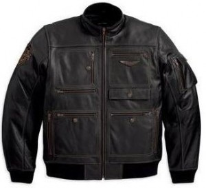 Harley-Davidson® Military-Inspired Leather Jacket 97137-13VM