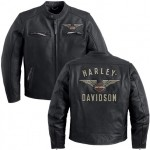 Harley-Davidson Men's Top Wing Leather Jacket 98058-13VM
