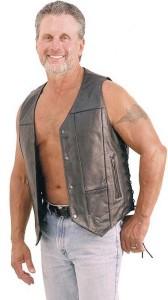 10 Pocket Leather Vest - Extra Long VM630PT
