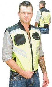 Bright Green Motorcycle Safety Vest VMC309GN