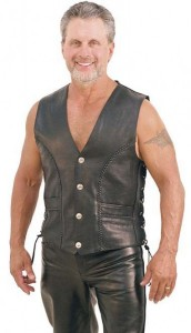 Jamin' Premium Naked Leather Vest VM319LB