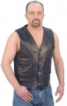 Mens Leather Vest with Quilted Lining VM906Q