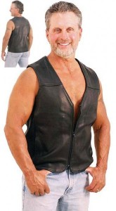 Motorcycle Menace - Naked Leather Vest for Men VM6029NZ