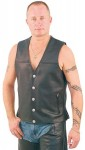 Premium Naked Leather Vest with Nickle Head Snaps VM6033NN