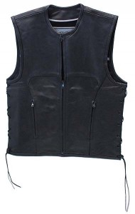 Rocket Leather Club Vest with One Piece Back VM2648ZK