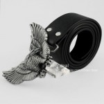 3D Unique Wing Flying Soaring Rodeo Eagle Metal Buckle Men's leather Belt COOL