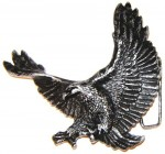 3D WINGED FLYING WESTERN EAGLE BELT BUCKLE,SOLID METAL,HEAVY DUTY,BIKERS,VINTAGE