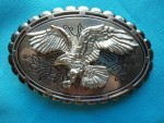 BRAND NEW SWOOPING SILVER EAGLE BELT BUCKLE