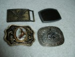 Belt Buckles - Unisex - Horse, Rodeo, Eagle, Blank - Lot of 4