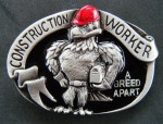 CONSTRUCTION WORKER UNION EAGLE TOOL BOX BELT BUCKLE