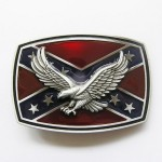 NEW CONFEDERATE REBEL REDNECK EAGLE FLAG BELT BUCKLE