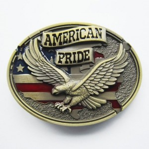 New USA American Pride Eagle Flag Belt Buckle