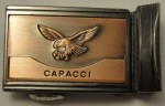 VINTAGE CAPACCI ~ MENS / WOMENS / UNISEX ~ COPPER FLYING EAGLE BELT BUCKLE NICE!
