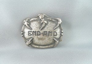 VINTAGE EAGLE CLAW BELT BUCKLE