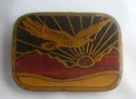 Vintage BELT BUCKLE Eagle Sunrise Sunset SOLID BRASS Harmony Metal Colorado