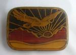 Vintage BELT BUCKLE Eagle Sunrise Sunset SOLID BRASS Harmony Metal Colorado