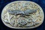 Vintage Western Style American Bald Eagle Belt Buckle
