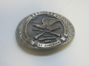 NRA Organized 1871 Eagle Solid Brass Belt Buckle by Norman Company