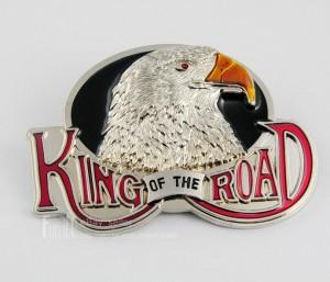 3D New Hot King Of The Road Eagle Biker Motorcycle Metal Men's Boys Belt Buckle