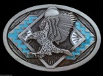 AMERICAN BALD EAGLE PREY BIRDS NATIVE BELT BUCKLES