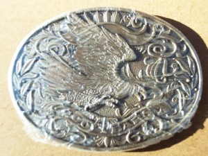 AWARD DESIGN MEDALS INC. EAGLE 200 YEARS BELT BUCKLE FIRST EDITION