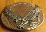 American Eagle Belt Buckle - Cast Eagle - Leather Inlay - USA Seller Fast ship