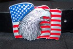 American Eagle USA Flag Belt Buckle