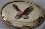 BELT BUCKLE GERMAN SILVER VINTAGE EAGLE COWBOY RODEO WESTERN
