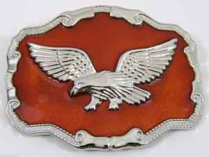 BELT BUCKLES men's western patriotic wildlife accessories eagle buckle NWOT!