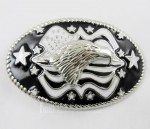 Boy's /Men's America Flag Stars Bald Eagle Western Metal Belt Buckle