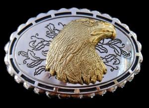 Eagles Head Wild Prey Birds American Bald Eagle Western Golden Gold Belt Buckles