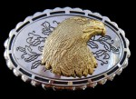 Eagles Head Wild Prey Birds American Bald Eagle Western Golden Gold Belt Buckles