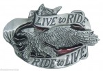 Live to Ride belt buckle logo eagle motorcycles bike accessories replacement hd