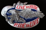 Motorcycles Live To Ride Chopper Eagle Men Belt Buckles