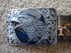 NEW BUDWEISER LEARTHER BELT & EAGLE BUDWEISER BUCKLE MADE IN THE USA