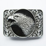NEW COWBOY EAGLE BLACK 3D RODEO WESTERN BELT BUCKLE