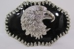 NEW SILVER METAL COWBOY WESTERN FASHION 3D LARGE BELT BUCKLE BIG EAGLE HEAD FACE