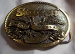 VINTAGE BALD EAGLE MADE IN THE USA STARRETT BELT BUCKLE