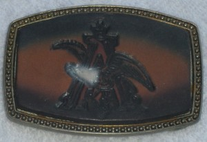 VINTAGE BB - 317, ALUMALINE 4108 BELT BUCKLE WITH EAGLE ON BUCKLE