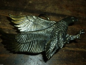 VINTAGE EAGLE SHAPED BELT BUCKLE GREAT AMERICAN BUCKLE CO. CHICAGO MARKED 1979